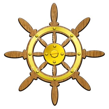 руль корабля рисунок