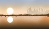Озеро,_солнце,_за