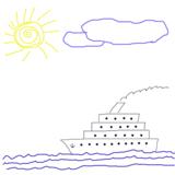 солнце;_лодка;_мо