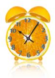 orange_clock_fruit_time_food_d