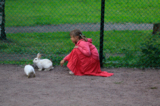 девочка,_кролики