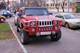 hummer,_car,_красный,_�